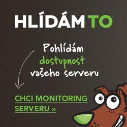 Monitoring server� Hlidam.to